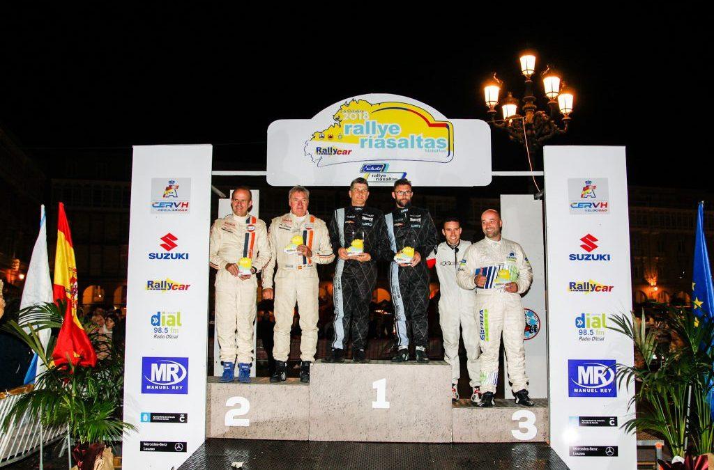 Foto del podium final del IV Rallye Rías Altas